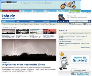 Neues Aussehen von ksta.de - Screenshot