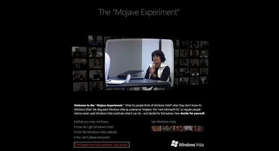 Ausschnitt der Homepage zu Microsoft Windows Mojave