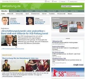 Netzeitung - Screenshot