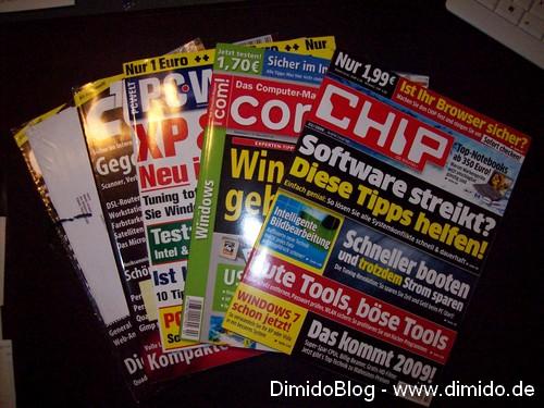 Foto - Einkauf von Computer-Magazinen