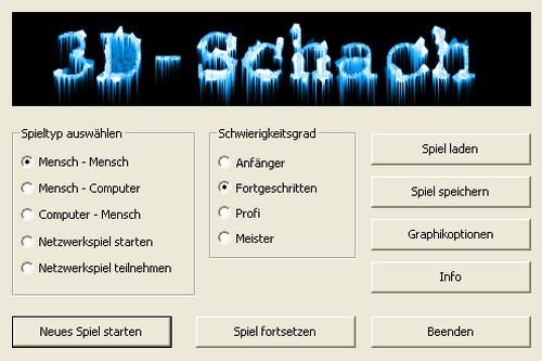 3D Schach - Einstellungen - Screenshot