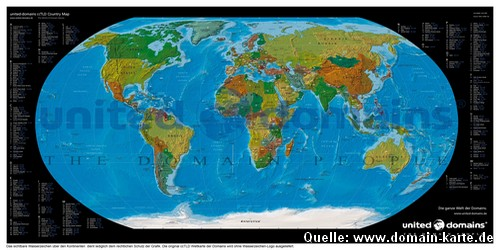 Domain-Weltkarte - Bild