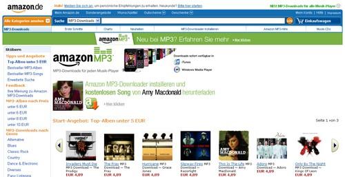 Amazon MP3 Downloads - Screenshot