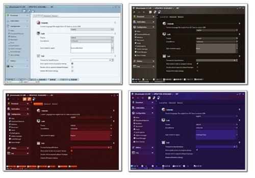 JDownloader 0.5.xx - Neue Skins als Screenshot-Zusammenschnitt