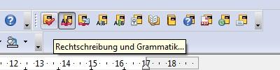 Duden Korrektor in der Symbolleiste von OpenOffice.org