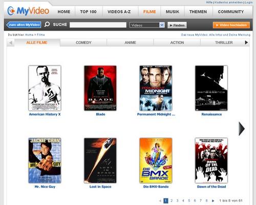 Kinofilme bei MyVideo