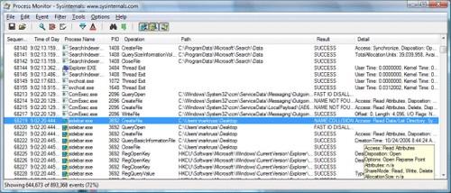 Process Monitor für Windows Betriebssysteme