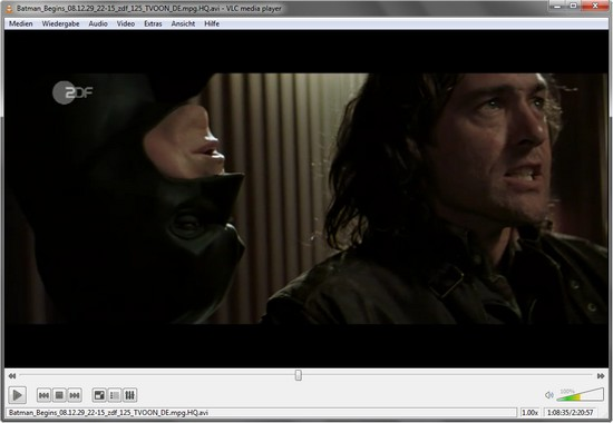 VLC media player in Aktion