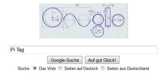 Google Doodle für den PI-Tag