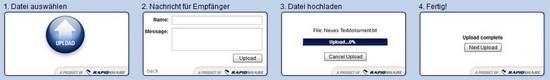 Prinzip von Upload2me. Ein neuer Service von Rapidshare
