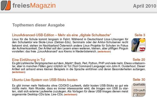 freiesMagazin 04/2010