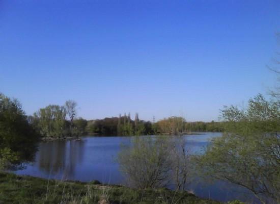 Blauer Himmer, ohne Kondensstreifen, über Köln und Bonn