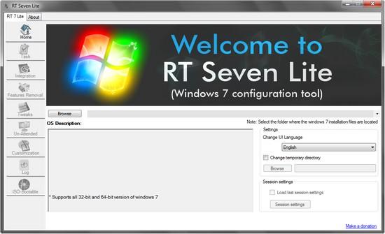 RT Seven Lite - Tool zum Erstellen einer eigenen Microsoft Windows 7 DVD