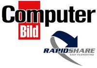 Computer-Bild und Rapidshare