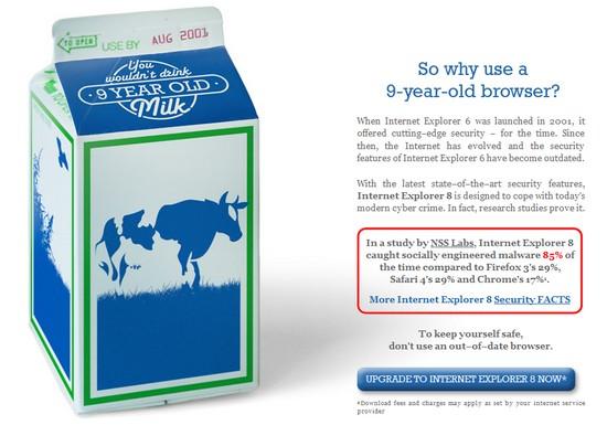 Werbe-Kamapgne von Microsoft in Australien zum Wechsel auf aktuellen Internet Explorer
