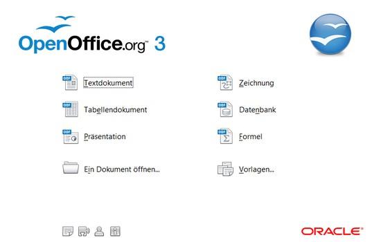 Start-Windows von OpenOffice.org 3.2.1