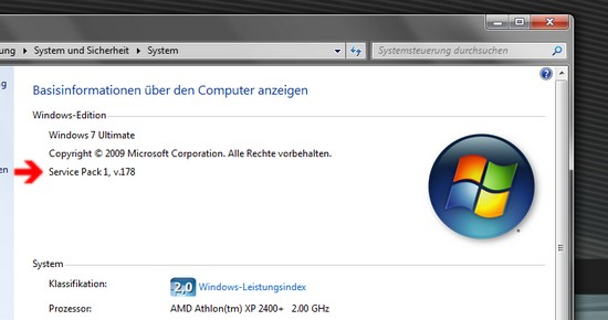 Systemkennung unter Windows 7