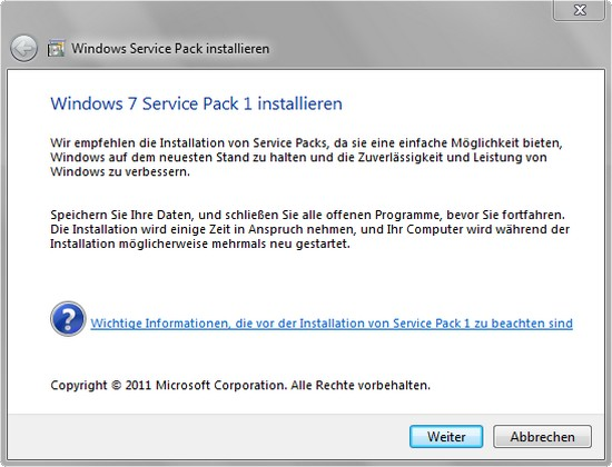 Download + Test: Service Pack 1 (SP1) für Microsoft Windows 7 + Server 2008 R2