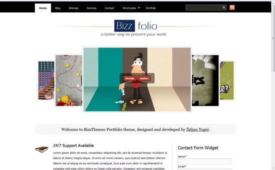 WordPress Themes, Templates - BizzFolio