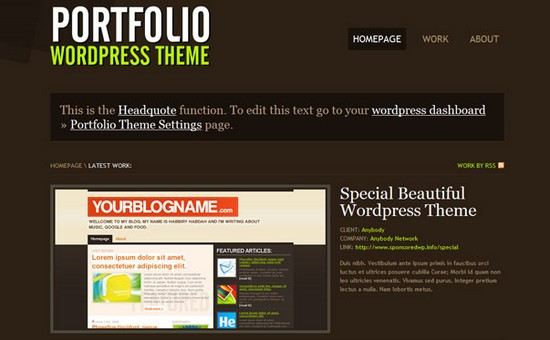 WordPress Themes, Templates - Portfolio WordPress Theme
