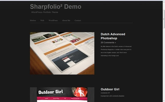 WordPress Themes, Templates - Sharpfolio