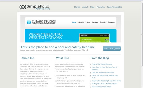 WordPress Themes, Templates - Simple Folio