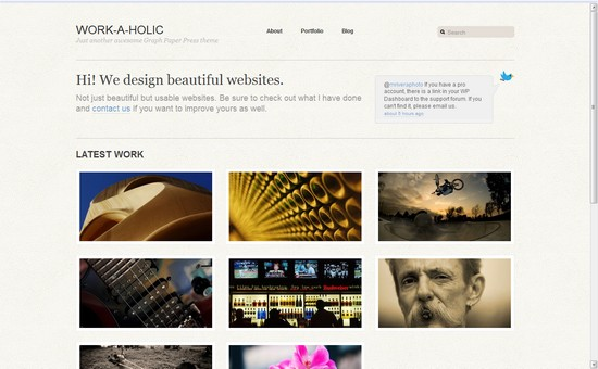 WordPress Themes, Templates - Work-a-Holic