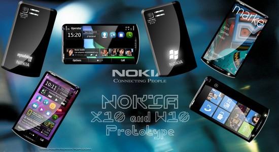 Nokia X10 mit Symbian und W10 mit Windows Phone 7.5