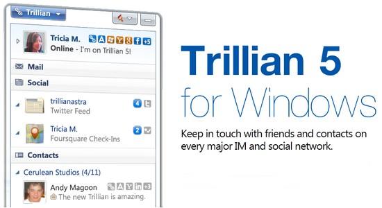 Trillian 5 – Kostenloser Instant-Messenger für Windows