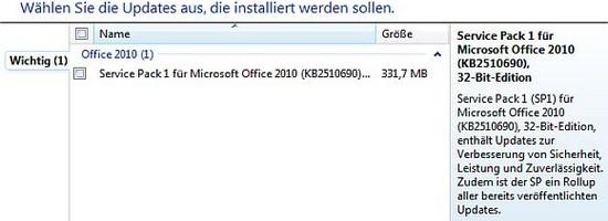 Microsoft Office 2010: Service Pack 1 zum Download veröffentlicht
