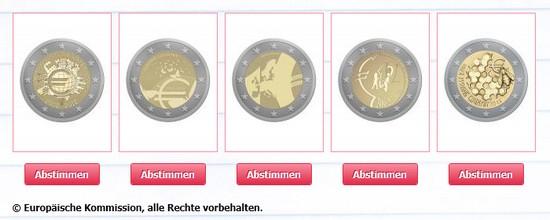 Neue Euro-Gedenkmünze: Abstimmung über Design