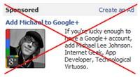 Facebook verbietet Werbung für Google+