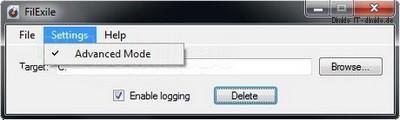 Filexile 1.27 – Löscht und entfernt geblockte, gesperrte Dateien und Ordner
