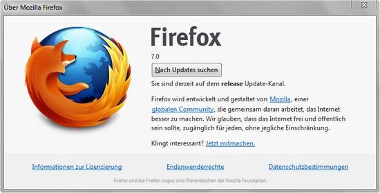 Browser Firefox 7 als finale Version freigegeben