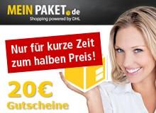 DHL Packstation: 20 Euro MeinPaket-Gutschein für 1000 Packstation-Punkte