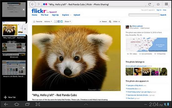 Firefox für Android mit neuer Tablet-Oberfläche