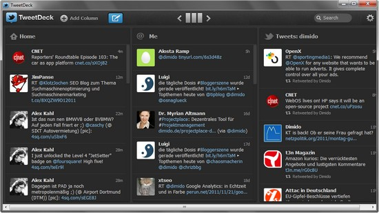 Tweetdeck für Windows, Mac – ohne Adobe Air