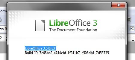 Angebliche Final von Libreoffice 3.5.0 entpuppt sich als RC3