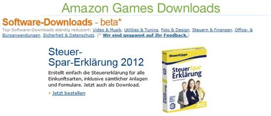 Amazon verkauft Spiele und Software per Download 