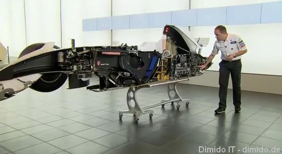 Schnittmodell eines Formel 1 Rennwagens - Sauber F1 Team