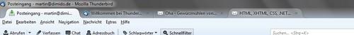 E-Mail-Client Thunderbird 15 mit neuer Optik und Theme-Design