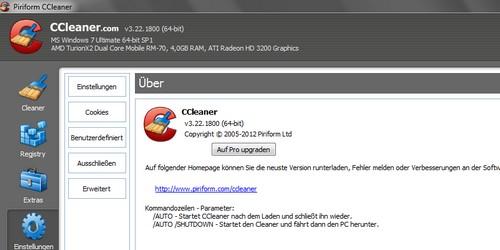 CCleaner - Update für Optimierung und Säuberung-Programm