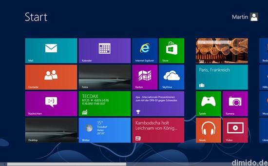 Windows 8 kostenlos downloaden, testen und ausprobieren - Start