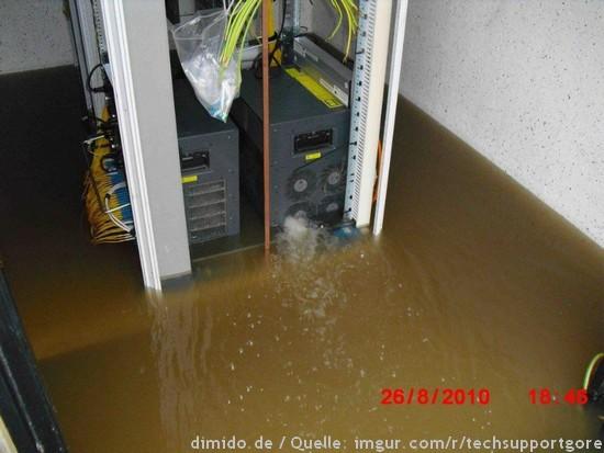 Wenn ein Server im Wasser baden geht