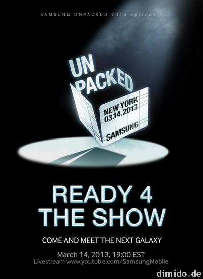 Samsung Galaxy S4 wird am 14. März der Welt präsentiert