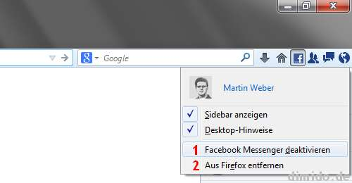 Facebook-Messenger in Firefox deaktivieren
