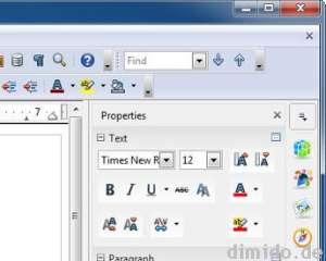OpenOffice 4.0 mit neuer Werkzeugleiste