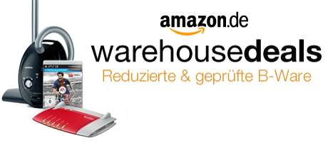 Rabatt auf Amazon Warehousedeals