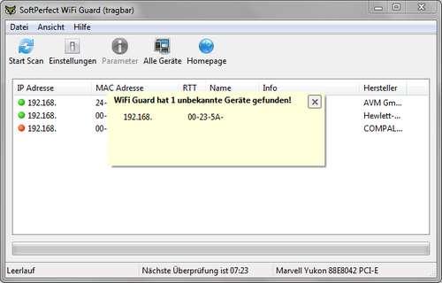 WLAN überwachen: Wifi Guard überwacht WLAN-Funknetz und LAN-Netzwerk