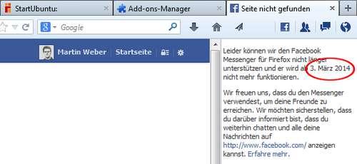 Facebook stellt Facebook Messenger für Firefox ein